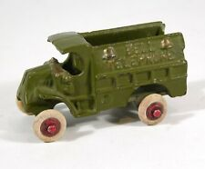 """1920s MACK C-CAB TYPE BELL TELEPHONE SERVICE TRUCK CAST IRON TOY By HUBLEY 3.75"""""""