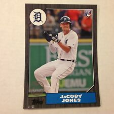 JACOBY JONES #199 Tigers RC Black 5x7 #d/10 Made 1987 Tribute 2017 Topps 2