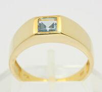 ♦♦ Blau Topas Ring in aus 8 kt 333 Gelb Gold mit Blautopas Topasring Goldring ♦