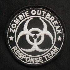 ZOMBIE HUNTER GLOW IN THE DARK OUTBREAK RESPONSE TEAM TACTICAL SWAT IRON PATCH