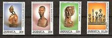 JAMAICA # 587-90 MNH LOCAL WOODEN SCULPTURES ART