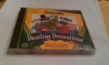 CRAYOLA DAZZLING DECORATIONS Design Print Create 3D Holiday Decorations CD-ROM