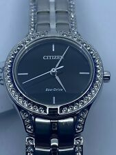 CITIZEN Silhouette Crystal Black Dial Ladies Watch FE2060-53E