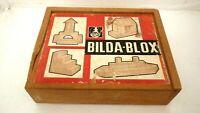 Vintage Bilda blox Building blocks old game wooden blocks found in loft