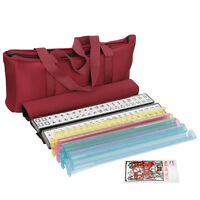 American Mahjong Full 166 Set Collectible Western Mah Jongg Tiles w Pushers