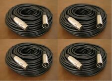 4 Lot - 100Ft XLR Pro Audio 3Pin Male Female Microphone Mic Cord Extension Cable