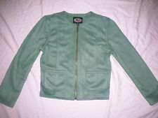 COUNTY CLOTHING CO** Sueded Poly Green Cropped JACKET Zip SOFT Canada Small