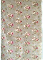 Beautiful 19th C. French Cotton Printed Floral Fabric (2613)