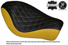 Diamante Negro Y Amarillo Personalizado Para Harley Sportster Low Hierro 883 Solo Cubierta de asiento