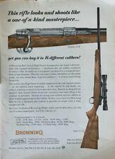 BROWNING Safari .22 and Olympian .30 VINTAGE 1960's Print Ad Mancave Collectible