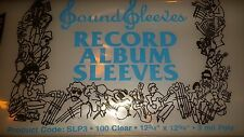 """500 Record Poly Outer Sleeves 12""""  3 mil Album LP FREE SHIPPING!"""