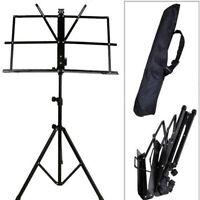 Adjustable Folding Sheet Music Stand Score Holder Mount Tripod Carrying Bag NEW