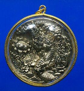Naga Phayanak Coin Talisman Medal Dragon Rich Lucky Thai Buddha Amulet