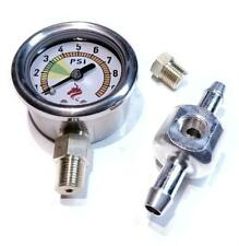 Fuel pressure gauge 0-10Psi set Weber,Dellorto,Solex carburetors with Facet pump