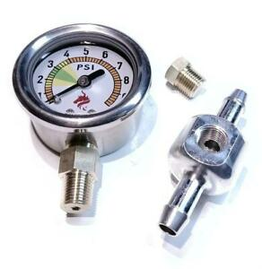 Fuel pressure gauge 0-10PSI set Weber,Dellorto,Solex carburetors with Facet pump