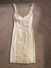 NEW illia Tan Leather, Knit Side Panels Dress, size 8