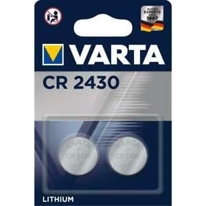 2 Piles CR2430 Varta Bouton Lithium 3V
