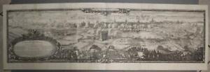 COPENHAGEN SIEGE OF COPENHAGEN DENMARK 1696 PUFENDORF LARGE ANTIQUE 3 SHEET VIEW