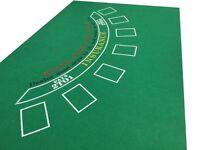 GREEN BLACK JACK FELT BAIZE  LAYOUT SUITABLE 7 PLAYERS
