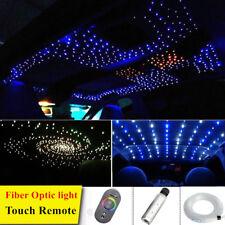 6W RGB Car LED Light 100Strands 2M Fiber Optic Star Ceiling Kit Touch Remote 12V