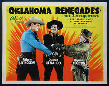 OKLAHOMA RENEGADES BOB LIVINGSTON 3 MESQUITEERS WESTERN 1940 TITLE CARD