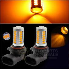 2 x Yellow Amber 33SMD H10 9145 Projector Lens Car LED Bulbs Fog Driving Light