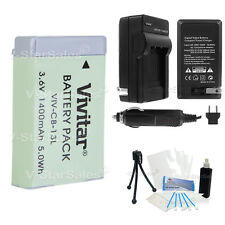 NB-13L Replacement Battery + Charger for Canon PowerShot G5X G7X G9X