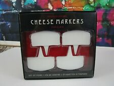 Nib Williams Sonoma Porcelain Cheese Marker Set of 4