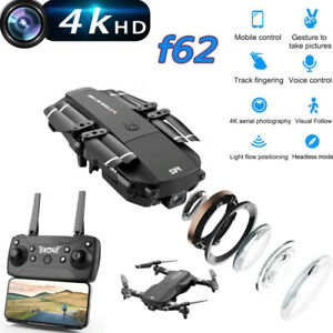 F62 Mini Drone 4K HD Camera Drone WIFI FPV Optical Flow Foldable RC Quadcopter