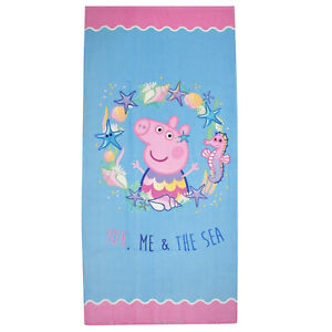 Peppa Pig Towel 100% Cotton 140 x 70 cm Girls Boys Kids Official NEW!