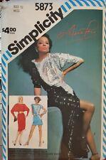 Vtg Simplicity Diana Ross pattern 5873 Misses' Knit Dress size 12 bust 34 uncut