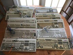 Lot of 14 Vintage Compaq Keyboards Enhanced II RT101 Vocalyst