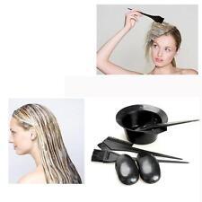 5pcs/Set Black Plastic Hair Dyeing Colouring Brush Comb Mixing Bowl Barber Tool