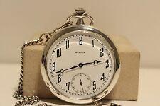 """Face Pocket Watch """"Radixa"""" Micro Regulator Antique Rare Men'S Silver 900 Open"""
