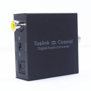 Coax Coaxial to Optical 2-Way Toslink SPDIF Digital Audio Converter Adapter