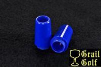 """NEW SUPER PREMIUM GOLF FERRULES BLUE .355 """"COLLARED"""" TAPER IRON .87"""".560OD LOT"""