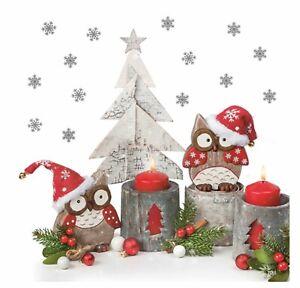 Christmas Napkins for Decoupage Paper Craft Serviettes Owl 33x33cm 3PLY 20 Pack