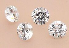 Cubic Zirconia Round Clear / White / Colourless 7mm Excellent Quality Pack of 4