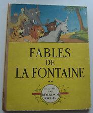 FABLES DE LA FONTAINE Benjamin RABIER EO 1949 BON ETAT D'ORIGINE
