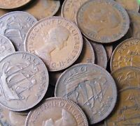 Lot Of Ten Different British Vintage Half Penny Coins - 1902-1967 - UK 1/2d