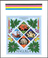 Anguilla 1979 Christmas Flowers SS MASTER PROOF