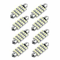 CF 8 x 42mm 16 3528 SMD LED Bulbs White Car Dome Festoon Interior Light