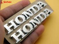Moto Racing Silver Emblem Badge Decal Sticker 3D ABS 10CM for Honda Tank Fairing