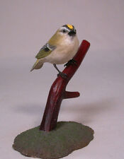 Golden-crowned Kinglet Orig Bird Wood Carvings/Birdhug