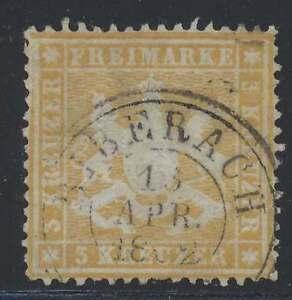 Württemberg Nr. 17 y gestempelt, 3 Kreuzer Ausgabe 1861 (44458)