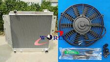 3 Row Aluminum Radiator Conversio & Fan for Jeep Wrangler YJ TJ V8 1987-2006 88