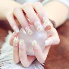 24 Pc Fashion Nail Art Full False Artificial Fake Nails Tips French Manicure Set