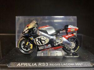 Deagostini Moto GP Aprilia RS3 Regis Laconi 2002 Diecast Motorcycle Model 1:24