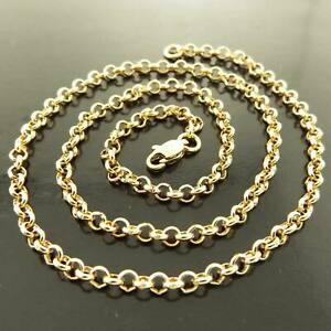 """9ct 9k Yellow """"Gold Filled"""" Rolled Gold Belcher Chain Necklace 3-7mm All sizes"""