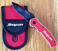 SNAP-ON FOLDING LINERLOCK KNIFE G-10 HANDLE with SNAP-ON NYLON SHEATH NEW